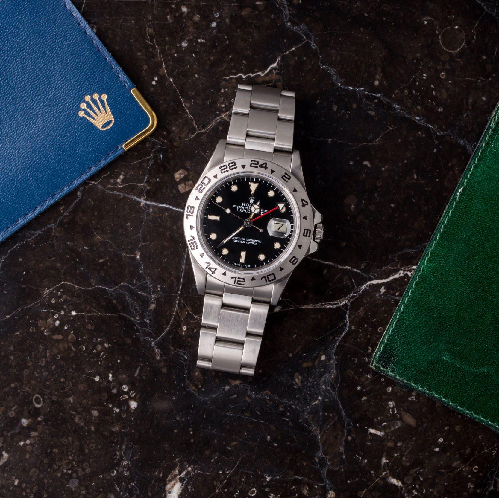 Rolex Explorer II 16550 Black Dial