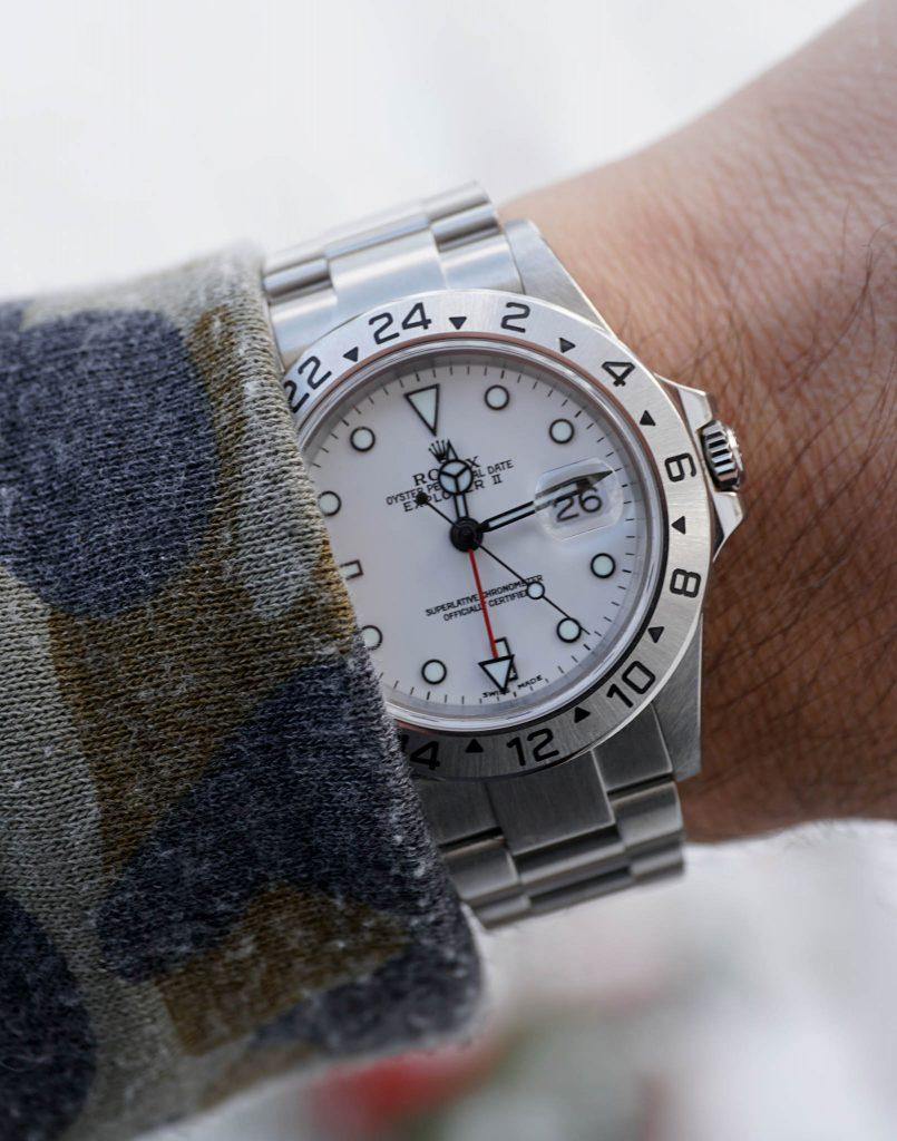 Rolex Explorer II 16570 Polar Wristshot