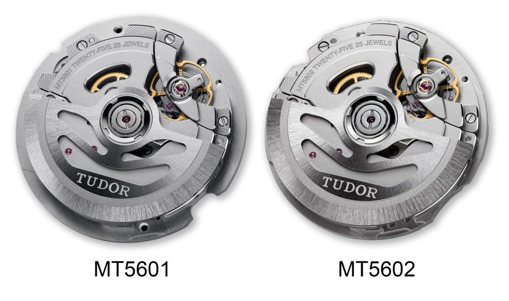 Tudor MT5601 and MT5602 Movements
