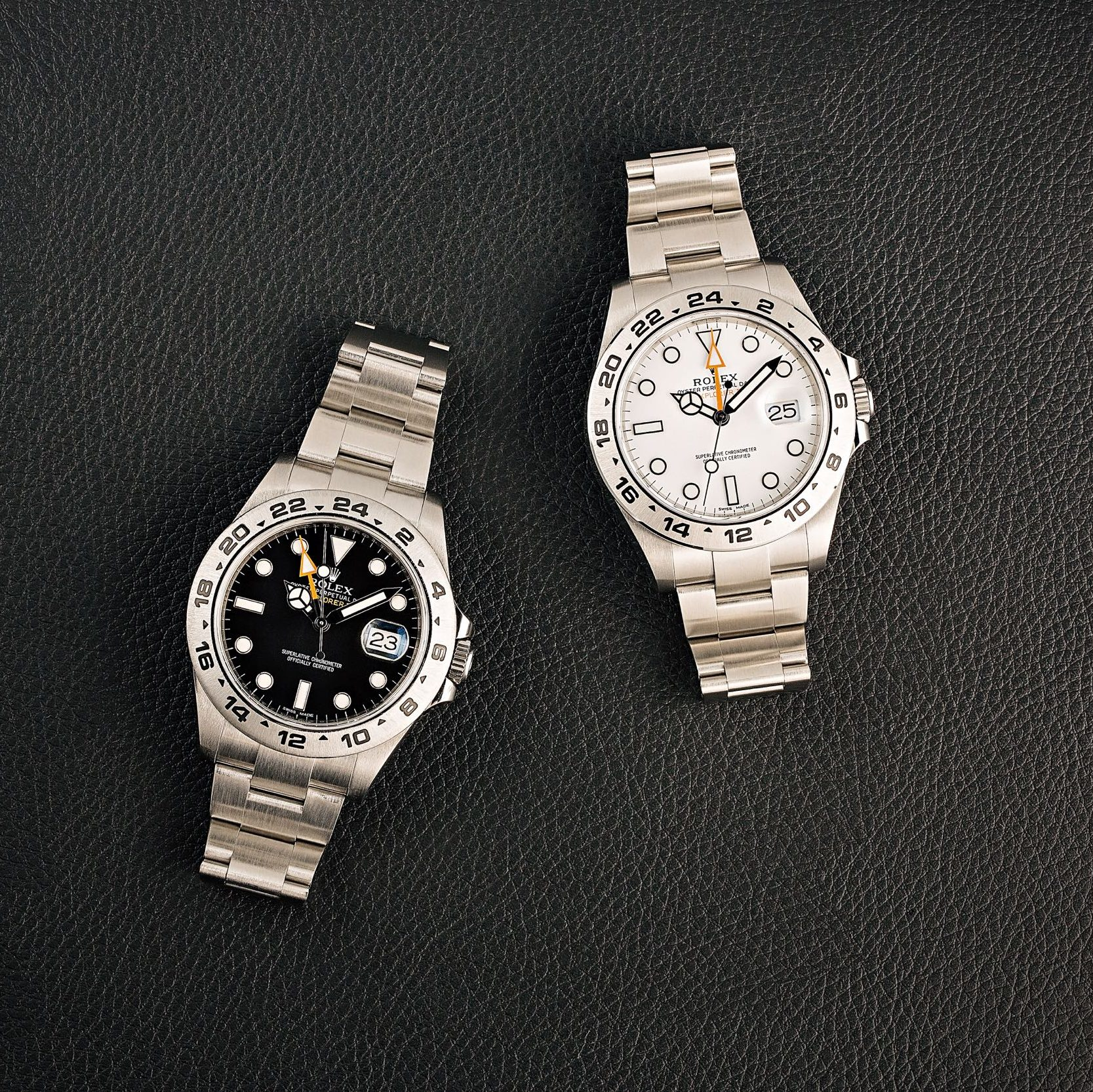 Explorer II ref 216570 what and black dials